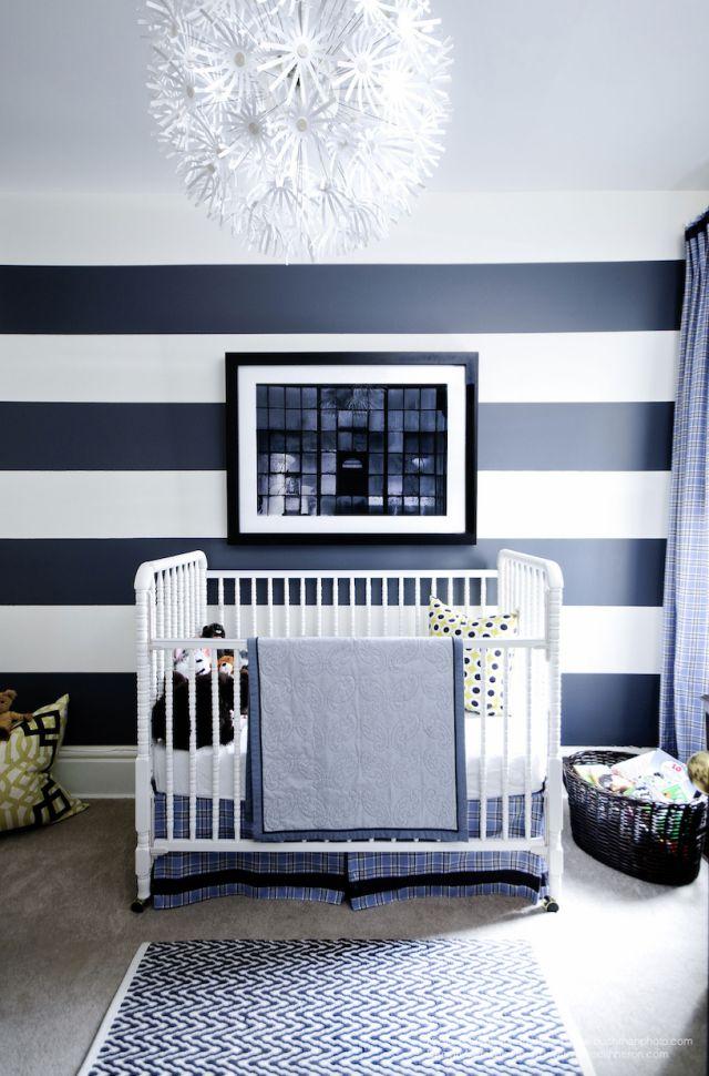 Námořnická modrá a bílá dětský pokoj