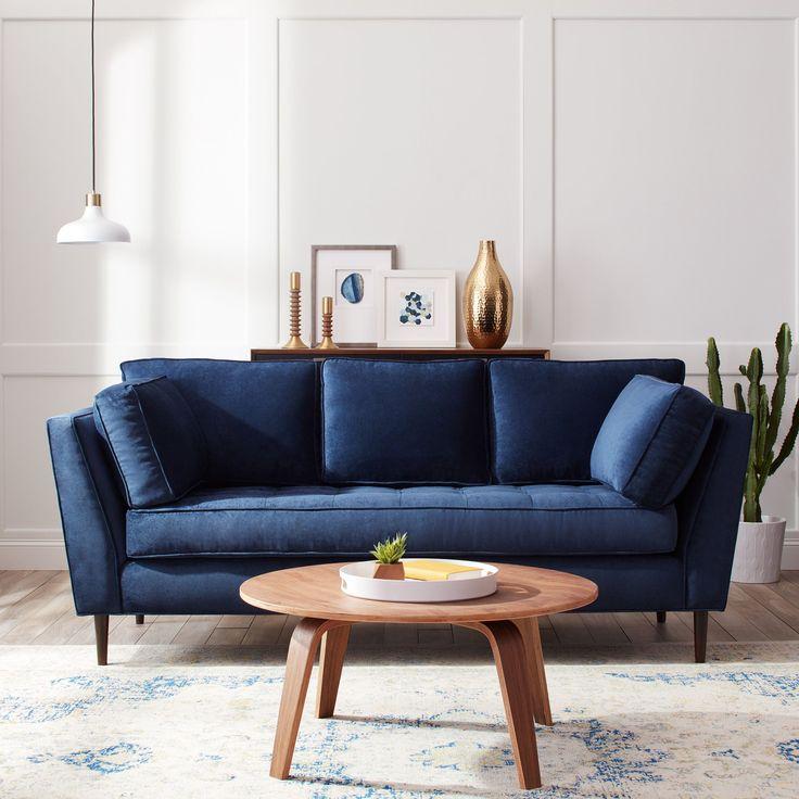 Námořnická modrá a bílá v obýváku