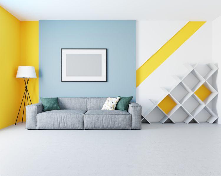 Obývák laděná do žluta