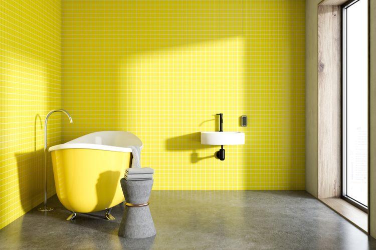 Do žluta laděná koupelna