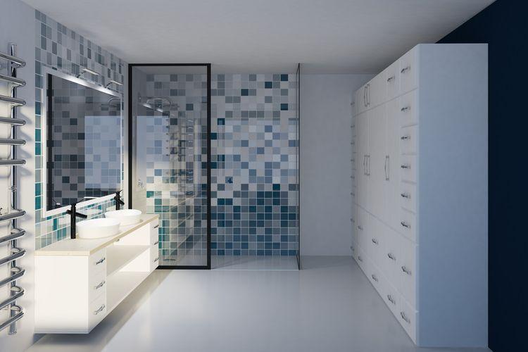 Koupelna v modré