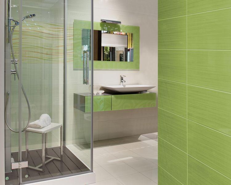 Zelené koupelnové doplňky