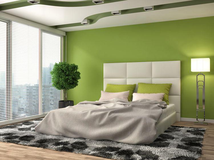Šedozelená ložnice