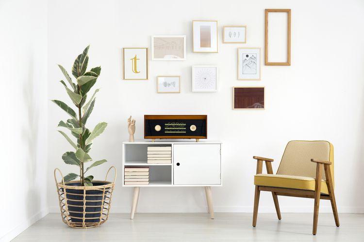 Světlý retro obývací pokoj