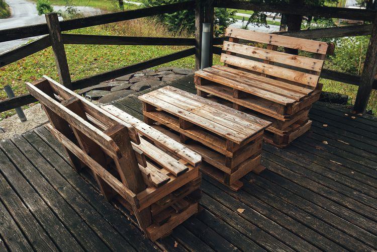 Paletové sezení na terasu