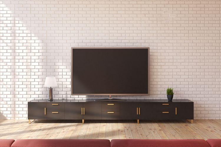 Černá skříňka pod TV