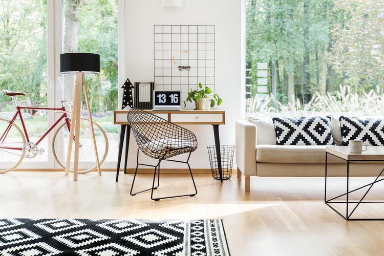 Černobílé vzory v obýváku