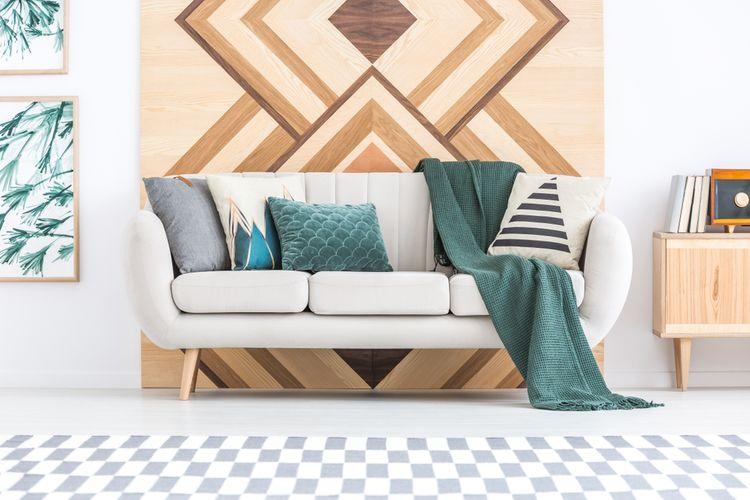 Geometrické vzory v obýváku