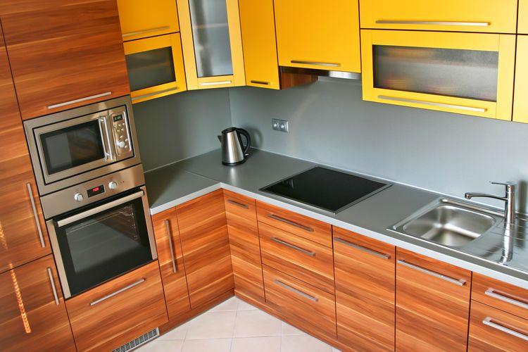 Žluté kuchyňské linky