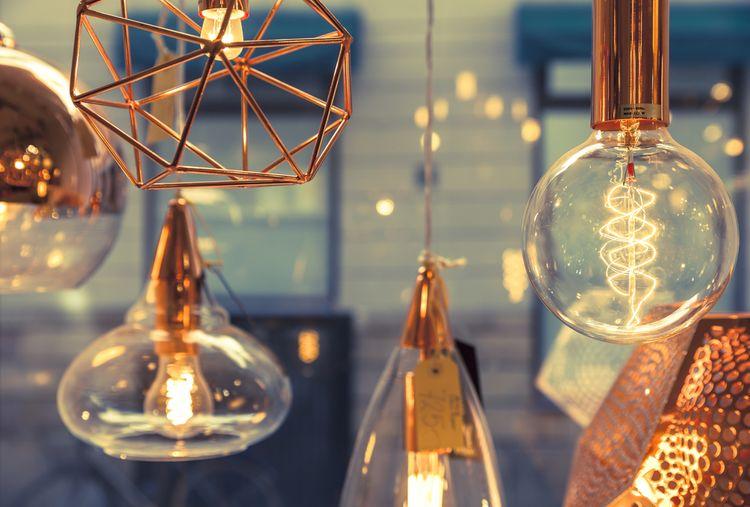 Steampunk wire lampy