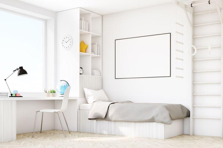 Bílý pokoj pro chlapce