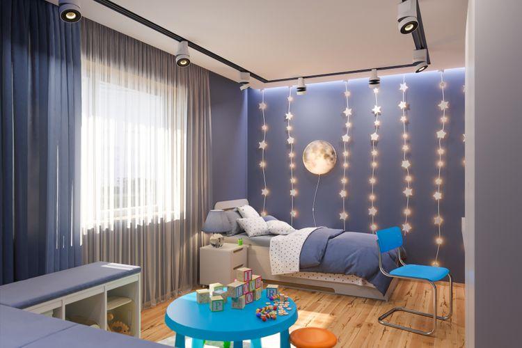 Chlapecký dětský pokoj s hvězdami