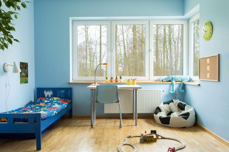 Modrý dětský pokoj pro chlapce