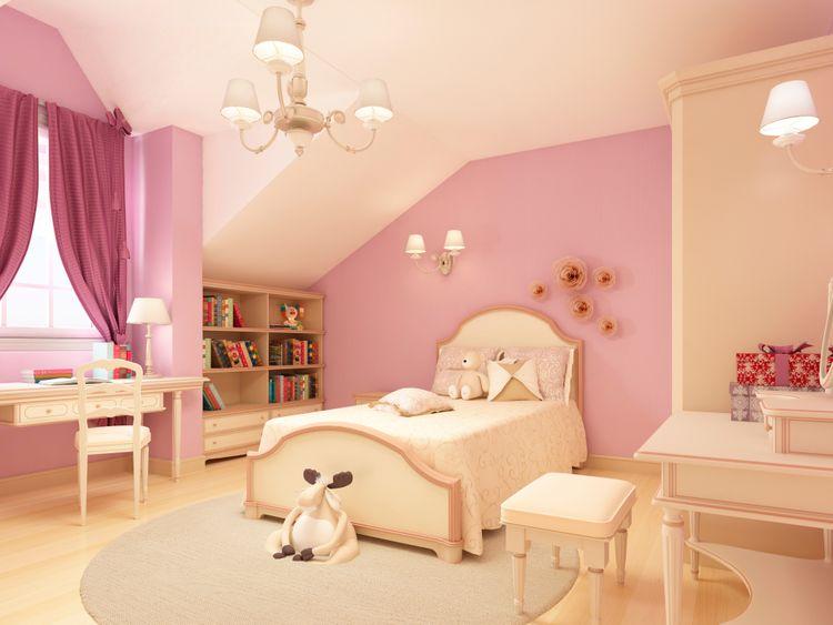 Dívčí pokoj v klasickém stylu