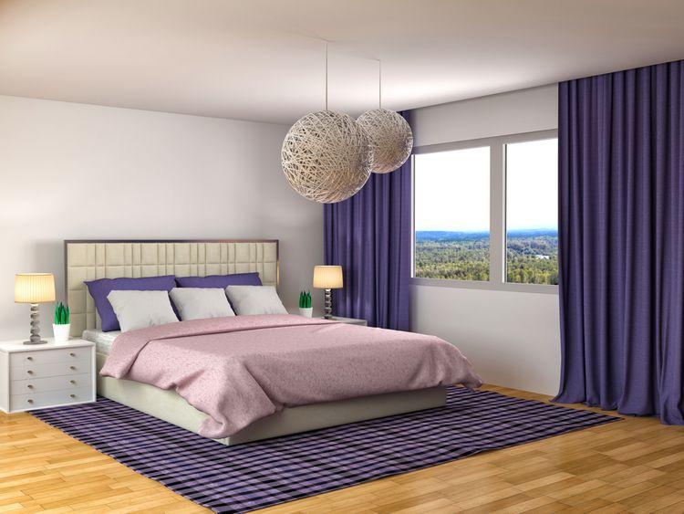 Ložnice ve fialové