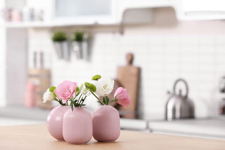 Růžové vázy