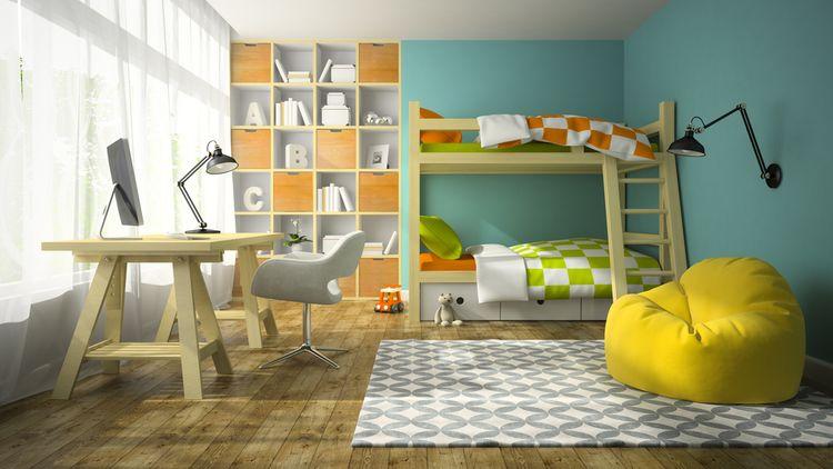 Dětský pokoj s palandou