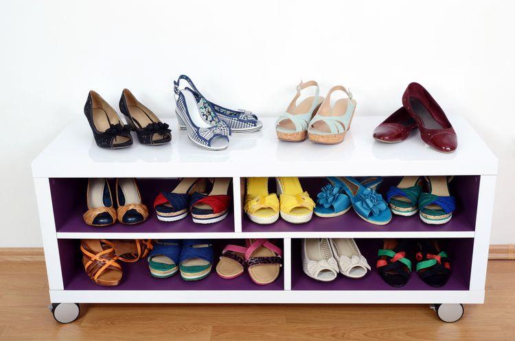 Otevřená skříňka na boty