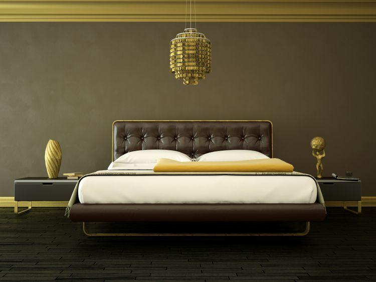 Moderní hnědá ložnice