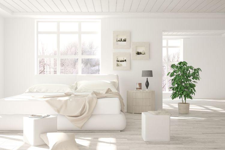 Skandinávský design ložnice