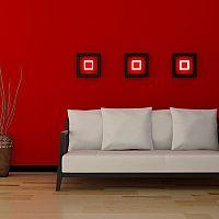 Červený obývací pokoj - každého upoutá na první pohled