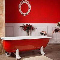 Červená koupelna - nejen pro lidi, kteří se nebojí riskovat