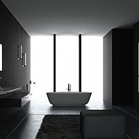 Černá koupelna - vypadá lépe než by se mohlo zdát