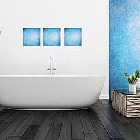 Modrá koupelna dodá vašemu bytu šmrnc