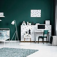 Zelený dětský pokoj - hodí se pro chlapce i dívky