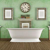 Zelená koupelna nemusí být tuctová