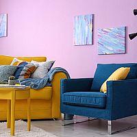 Žlutý obývací pokoj vás nabije energií