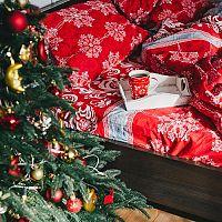 Povlečení s vánočním motivem dotvoří atmosféru Vánoc