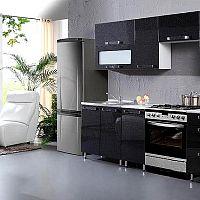 Lesklé černé kuchyně do moderní domácnosti