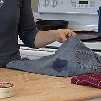 Jak odstranit olejové skvrny z oblečení