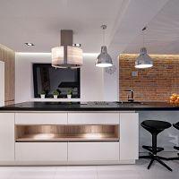 Moderná kuchyňa s barovým pultom