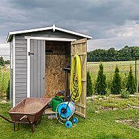 Zahradní domek na nářadí, bicykly i celoroční bydlení
