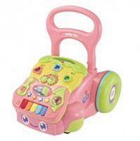 Baby Mix Dětské edukační chodítko růžové