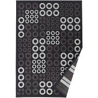 Antracitově šedý vzorovaný oboustranný koberec Narma Kupa, 70x140cm