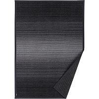 Antracitově šedý vzorovaný oboustranný koberec Narma Moka, 70x140cm