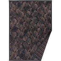 Antracitově šedý vzorovaný oboustranný koberec Narma Niidu, 70x140cm