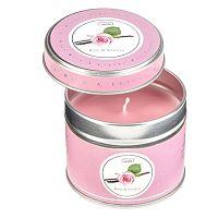 Aroma svíčka v plechovce Copenhagen Candles  Rose & Vanilla, doba hoření 32 hodin