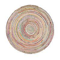 Barevný bavlněný kruhový koberec Eco Rugs, Ø150cm
