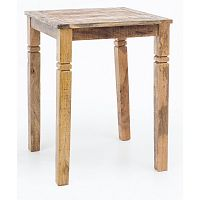 Barový stůl z masivního mangového dřeva Skyport RUSTICA, 80 x 80 cm