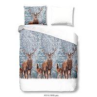 Bavlněné povlečení na dvoulůžko s dvěma polštáři Good Morning Deer, 200 x 200 cm