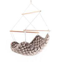 Béžové  interiérové houpací křeslo Linda Vrňáková Swingy In