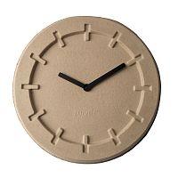 Béžové nástěnné hodiny Zuiver Pulp Round