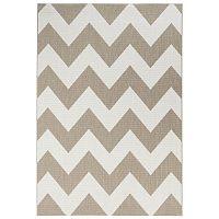 Béžovobílý koberec vhodný i na ven Unique, 200x290cm