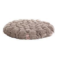Béžový sedací polštářek s masážními míčky Lindy Vrňáková Bloom, Ø75cm