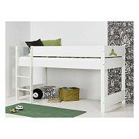 Bílá dětská patrová postel s bezpečnostními postranními pelestmi Manis-h Argos, 90x200cm