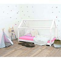 Bílá dětská postel bez bočnic ze smrkového dřeva Benlemi Tery, 80 x 160 cm